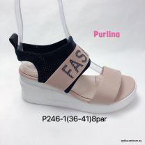 Sandały na koturnie ( 36-42/8 par )