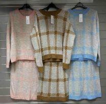 Komplet bluzka + spódnica (uniwersalny/6kompletów)