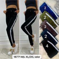 Spodnie welurowe damskie (M-2XL/12szt)