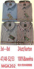 Koszula męska krótka rękaw (3XL-8XL/24szt)