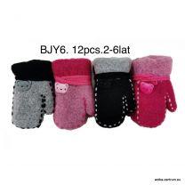 Rękawiczki Dzieci (2-6lat/12par)