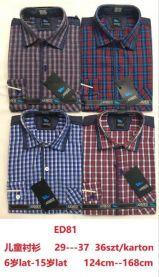 Koszula długi rękaw chłopięce (6-15LAT/36szt)