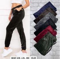 Spodnie welurowe damskie (S-XL/12szt)