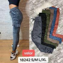 Spodnie welurowe damskie  (S-2XL/12SZT )