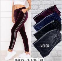 Spodnie welurowe damskie (S-3XL/12szt)