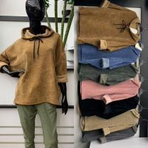 Bluzy z kapturem damskie (uniwersalny/6szt)