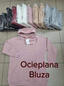 Bluzy z kapturem damskie (S/M-L/XL/12szt)