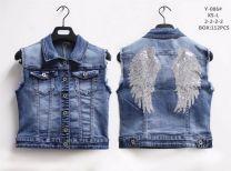 Kamizelka jeansowa damska (XS-L/8szt)