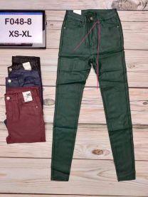 Spodnie ekoskóra damskie (XS-XL/12szt)