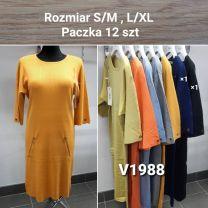 Sukienka Damska z chiński (S/M-L/XL/12szt)