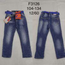 Spodnie jeansowe dzieci (104-134/12szt)