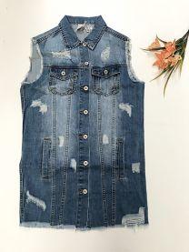 Kamizelka jeansowa damska (S-XL/12szt)