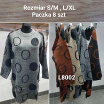 Tunika Sweter damskie (S/M-L/XL/8szt)