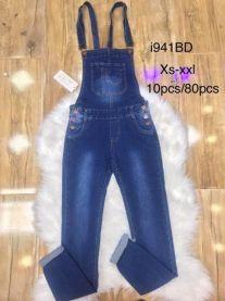 Ogrodniczki jeansowe damska (XS-2XL/10szt)