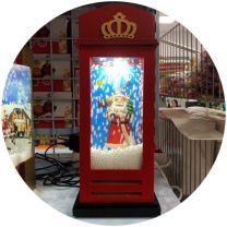 Boże Narodzenia światła (14x14x28cm/3szt)