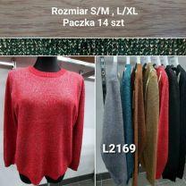 Swetry damskie (S/M-L/XL/12szt)