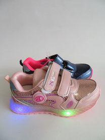 Buty sportowe na rzepy dziewczynka (26-31/16P)