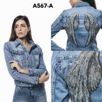Kurtka jeansowa damska (M-4XL/12szt)