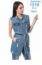 Kamizelka jeansowa damska (XS-XL/10szt)