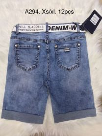 Spodenki jeansowe damska (XS-XL/12SZT)