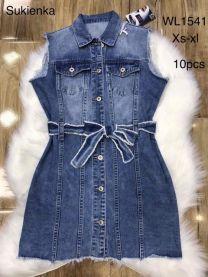 Sukienka Jeansowe Damskie (XS-XL/10szt)