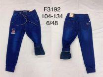 Spodnie Jeansy chłopięce oceiplane (104-134/12szt)