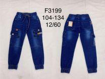 Spodnie jeansowe chłopięce (104-134/12szt)