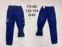 Spodnie Jeansy chłopięce oceiplane (134-164/12szt)