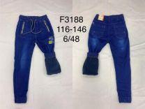Spodnie Jeansy chłopięce oceiplane (116-146/12szt)